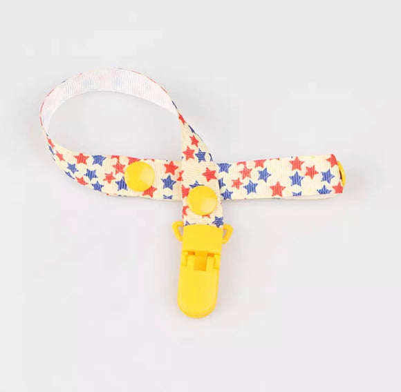 Stars Pacifier Clip