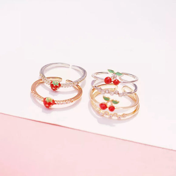 Fruity Adjustable Rings