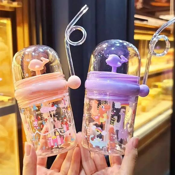 Animal Straw Bottles