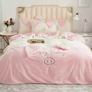Enjoy Today Piggy Bedding set