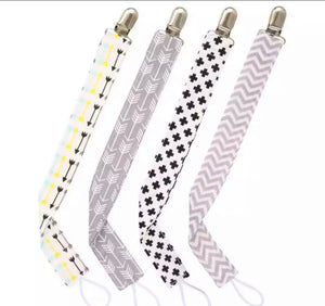 Geometric Pacifier Clips Set of 4