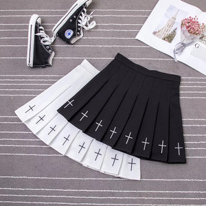 Gothic Style Pleated Skirt