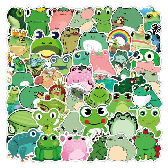 50pcs Frog Stickers