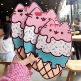 DDLGVERSE Pusheen Ice Cream iPhone Case