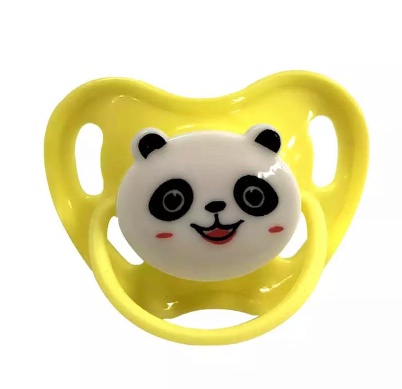 Yellow Panda Adult Pacifier