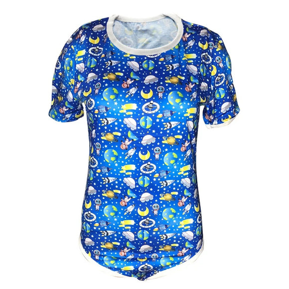 DDLGVERSE Outer Space Adult Onesie Front View