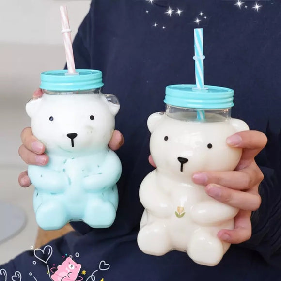 Bear Straw Bottle