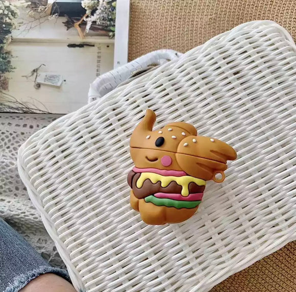DDLGVERSE Burger Elephant AirPods Case