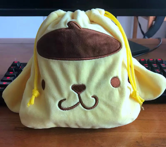 Pom Pom Purin Drawstring Bag