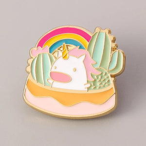 Unicorn Cactus Pin