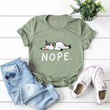 DDLGVERSE Nope Unicorn T-Shirt Light Grey