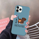 I Love Dachshunds iPhone Case