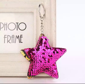Sequin Star Keyring