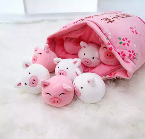 Bag of Pig Plushies