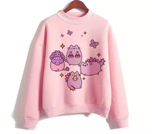 Lavender Pusheen Sweater