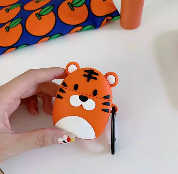 DDLGVERSE Cartoon Tiger AirPods Case