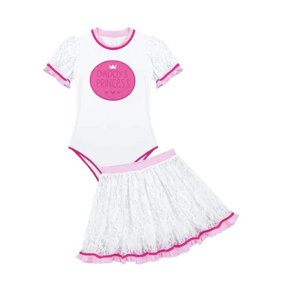 'Daddy's Princess' 2 Piece Onesie Set