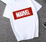 DDLGVERSE Slogan T-Shirt Marvel Red Block with White Writing