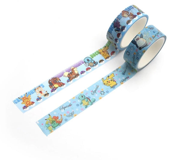 DDLGVERSE Pokemon Scrapbook Masking Tape
