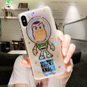 DDLGVERSE Toy Story iPhone Case Buzz and Woody Clear