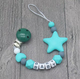 Star Baby Pacifier Clip