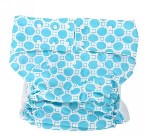 Blue Spots Adult Diaper