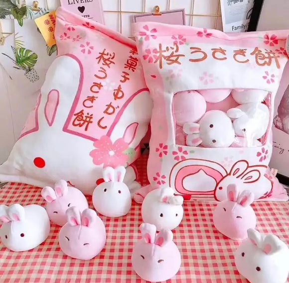 Bag of Bunny Plushies