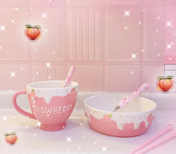 Ceramic Strawberry Dining Set