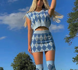 Diamond Plaid 2 Piece Set