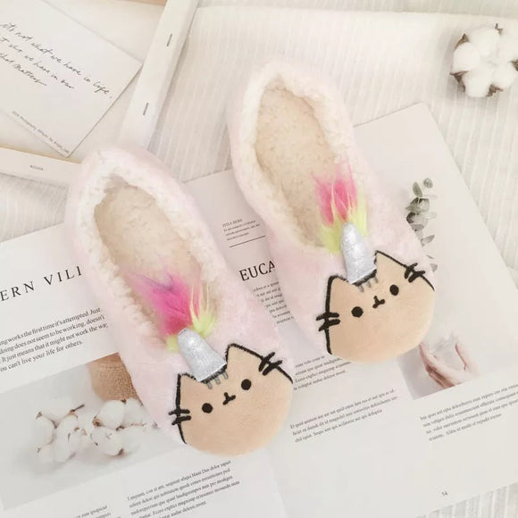 Unicorn Pusheen Slippers
