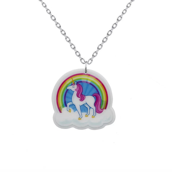 DDLGVERSE Rainbow Unicorn Necklace