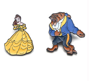 Beauty & The Beast Pins