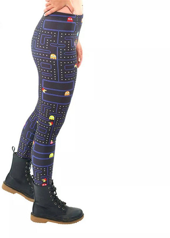 DDLGVERSE Pac-Man Leggings side on view
