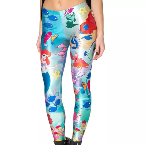 DDLGVERSE Ariel Under the Sea Leggings front view