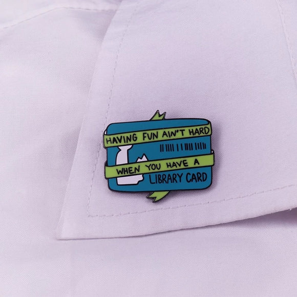 Library Card Pin