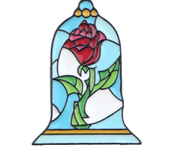 Beauty & Beast Rose Pin