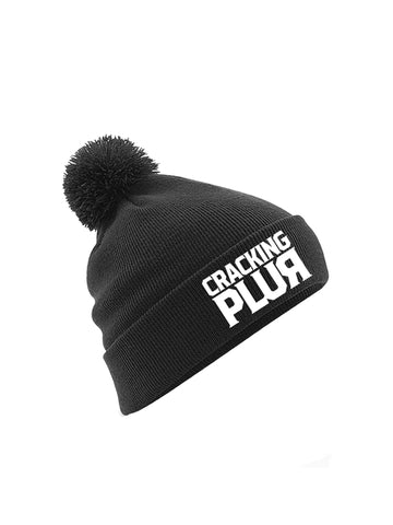 Cracking Plur Embroidered Pom-Pom Beanie