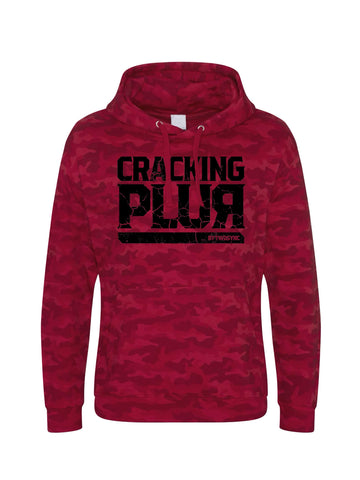 New Cracking Plur Print Hoodie - Red Camo