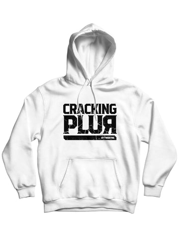 New Cracking Plur Print Hoodie - White