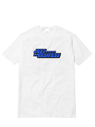 "WHITE ""JUST BUSINESS"" TEE"
