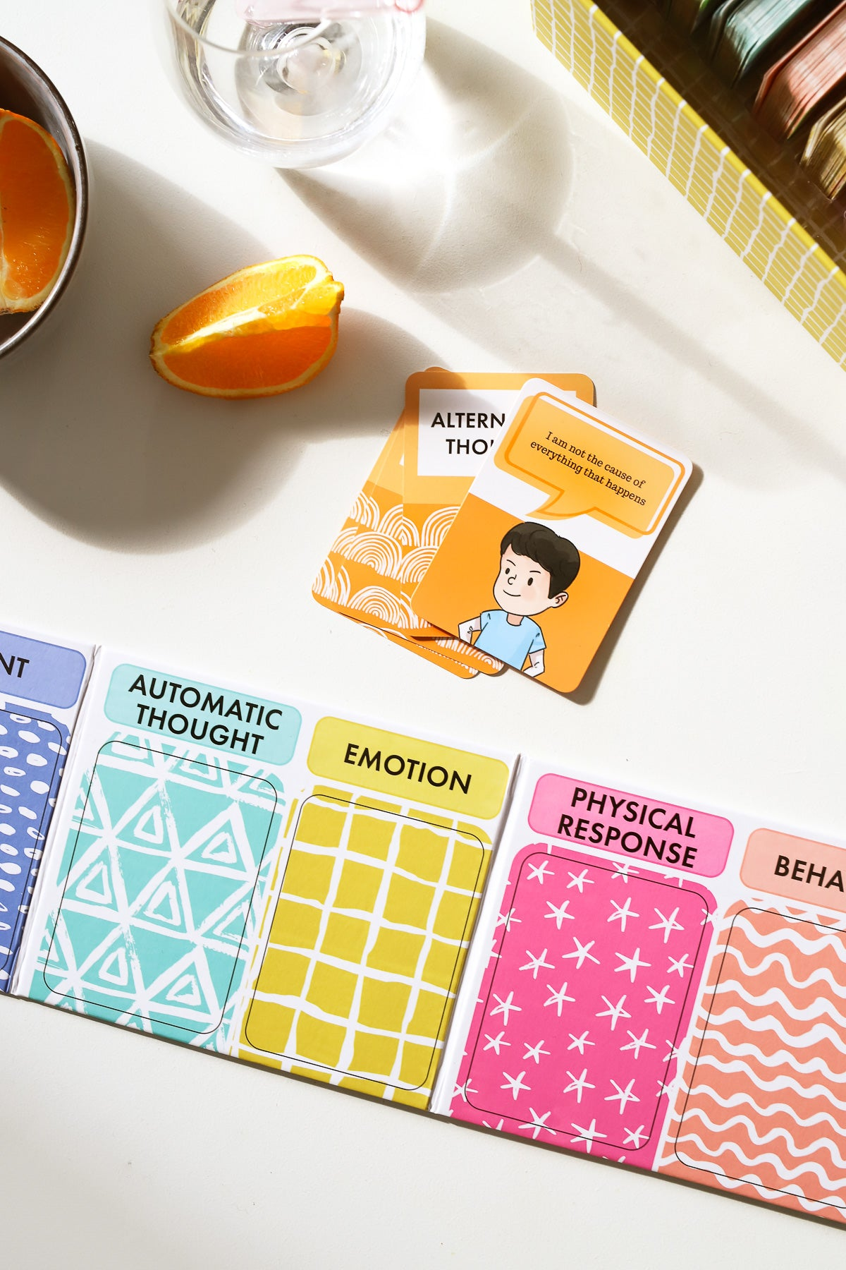 The ABC's of CBT card game for improving coping and emotional development in kids with teachers, parents, and counsellors
