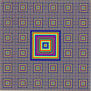 Colored Squares Small BLOTTER ART acid free perforated lsd paper