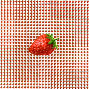 Small Strawberries BLOTTER ART acid free perforated lsd paper