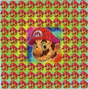 Melty Mario BLOTTER ART acid free perforated lsd paper