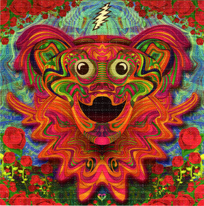Far Out Bear Grateful Dead BLOTTER ART acid free perforated lsd paper