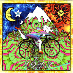 Fractal Bicycle Day Albert Hofmann BLOTTER ART acid free perforated lsd paper