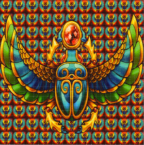 Scarabs Ancient Egyptians BLOTTER ART acid free perforated lsd paper