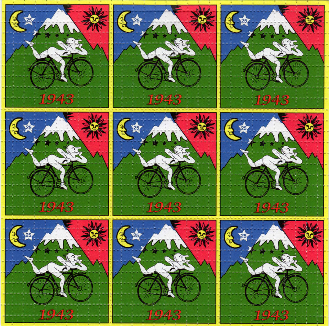 Bicycle Day X9 classic BLOTTER ART acid free perforated lsd paper