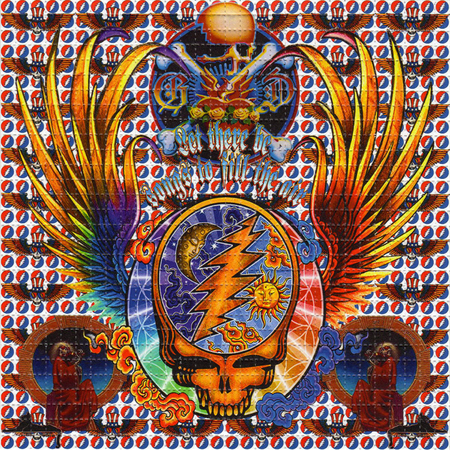 Grateful Dead Wings BLOTTER ART acid free perforated lsd paper
