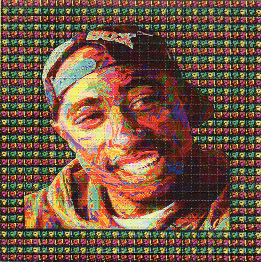 2Pac Tupac BLOTTER ART acid free perforated lsd paper